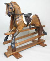 walnut rocking horse